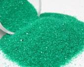 green kawaii fake sugar sprinkles half ounce / 14 grams granular decoden topping for miniature sweet treats