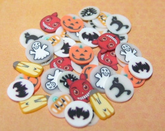 Halloween polymer clay cane slices for kawaii decoden nail art miniature food supplies #2