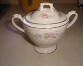vintage homer laughlin cashmere china sugar bowl