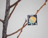 Soviet Vintage Happy New Year badge / pin. Free shipping.
