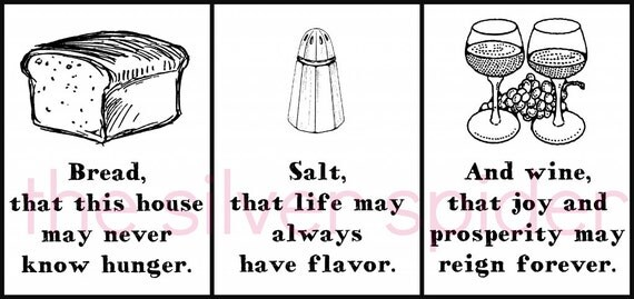 Items Similar To Bread Salt And Wine Collection Of Three It 39 S A Wonderful Life Movie Quote