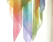 "Rainbow Play Silk  35"" x 35"" - Waldorf playsilk"
