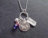 Kansas charmed necklace for the ultimate Jayhawk Fan
