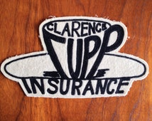 Vintage Bowling Patch CLARENCE CUPP INSURANCE