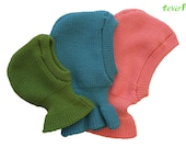Hat - 1 - 10 years 100% merino wool knit/knitted baby/children helmet balaclava coif hood scarf ski