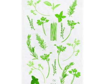 Ze 'Erbs Herb Tea Towel