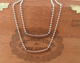 double layered bar necklace