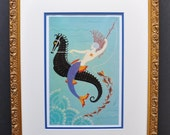 "Classic Art Deco art work by Erte'. 1st edition bookplate print titled ""Water"""