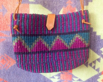 Vintage sisal woven purse