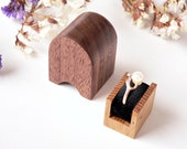 Wooden engagement ring box - handmade, original Woodstorming design - MADE TO ORDER