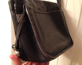 BRIGHTON Black  Leather Shoulder Bag