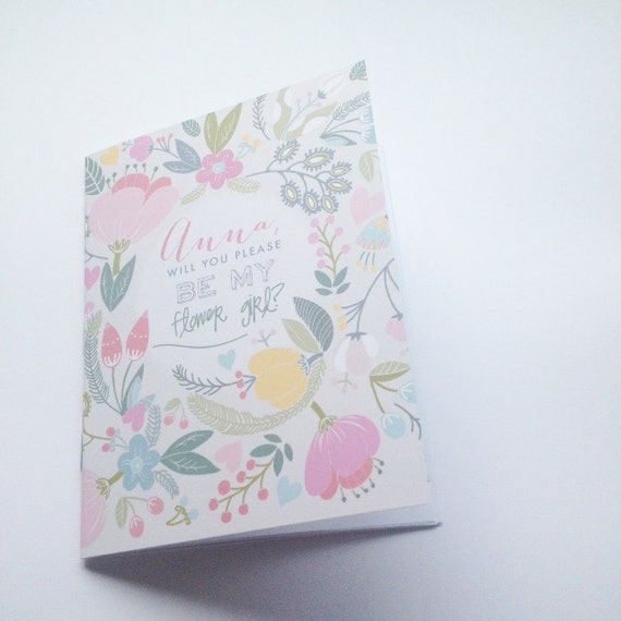 Will You Be My Flower Girl Mini Notebook