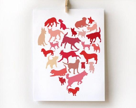 Dog Heart Card - Valentine