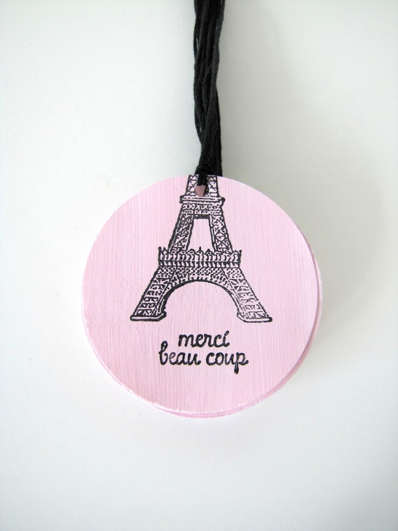 Parisian Thank you tags or  Eiffel Tower Gift Tags, Merci gift tags by Kiwi Tini