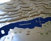 Helvellyn Wapenmap : hand painted stainless steel contoured map sculpture