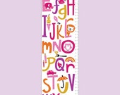 Personalized Doodle It Up Growth Chart - Girl