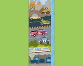Personalized Transportation Growth Chart - On the Go