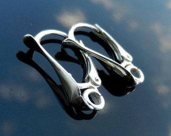Sterling Silver Lever Back ear earrings 925 1 PAIR