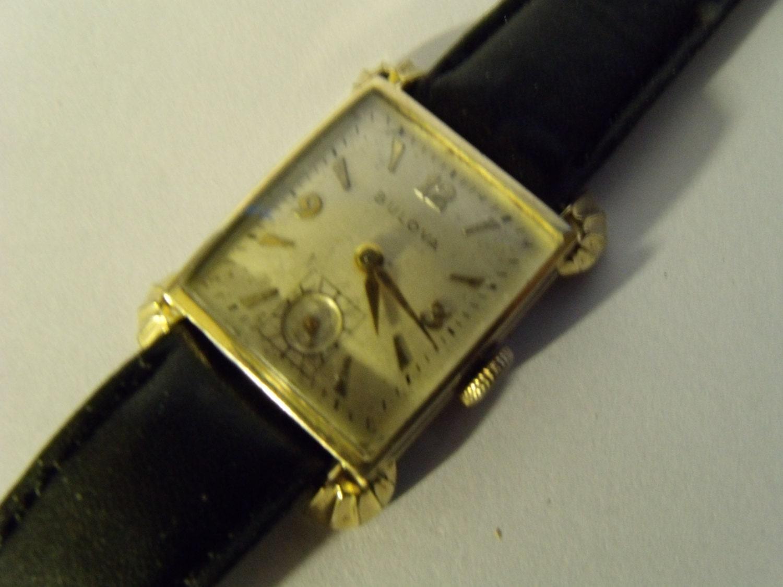mens bulova 1950 gold filled