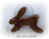 Primitive Bunny Rabbit ornament