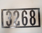 House Number, Address Sign, Metal Art, ANY NUMBERS