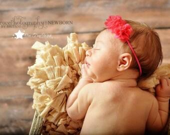 Hot pink baby headband, pink, baby headband, infant headband, newborn headband, girl headband, baby girl headband, baby gift, photo prop