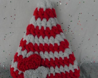 Red and White Striped Heart Hat NEWBORN PHOTOGRAPHY PROP Valentine Hat