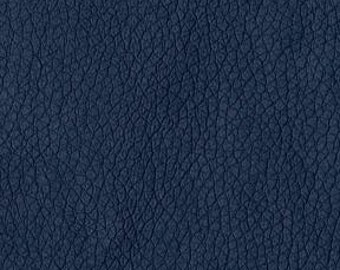 Quality Leather Look Upholstery Fabric -Faux Leather for upholstery- Home and Automobile-Color: Navy -Simulated Leather- per yard