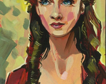 Scarlett O' Hara Art Print by Shaunna Peterson