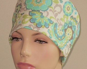 Surgical Scrub Hat Pastel Floral