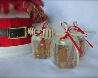 Christmas Party Favors, Honey  Favors, Graduation Party, 48 Jars