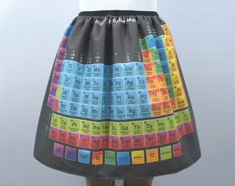 Periodic Table of Elements skirt - made to order