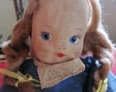 Vintage/ Antique Oil Cloth Dutch Girl Doll