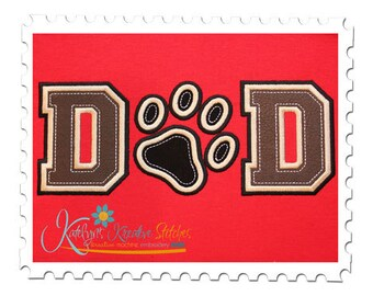 DAD Applique with Paw