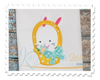 Basket Bunny Applique