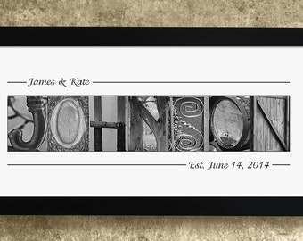 Personalized Alphabet Photography, Wedding Gift, Anniversary Gift, Personalized Name Gift
