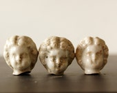 Vintage / Antique Frozen Charlotte Doll Heads Three Sisters (c.1860s) - Collectible, Altered Art, and more - ThirdShift