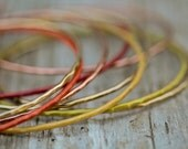 CLEARANCE - Sunset Bangles - 9 Unique Celosia, Cayenne, Fressia, Limerick, Rose, Gold Bangles  - Boho - Chic -Spring- Beachcomber Collection