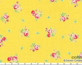 Flower Sugar Spring 2013 by Lecien - Tiny Tossed Roses on Yellow 30750 50 - Cut Options Available