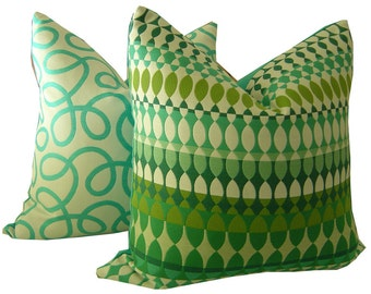 Sunbrella Oudoor Pillow - Green Outdoor Pillow - Outdoor Decor - Quito Sunbrella - Lumbar Pillow - Outdoor Throw Pillow - PILLOW COVER ONLY