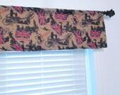 Union Jack Curtain British Flag United Kingdom Printed Burlap Valance