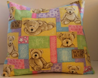 12x12 Boyds Baby Bears Flannel Pillow