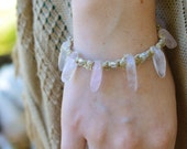 Rose Quartz Beaded Hemp Bracelet