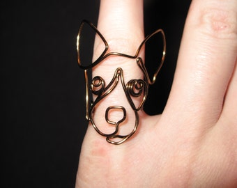Wire Wrapped Jack Russel Terrier MADE to ORDER Ring