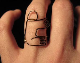 Wire Wrapped Sloth Ring MADE to ORDER