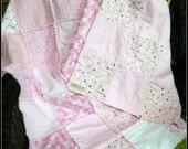 SALE!     Life Journeys FLANNEL HUG   Pink Ribbon Cancer Awareness