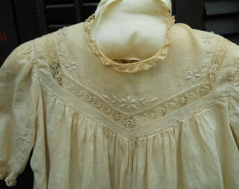 Antique 100 Yr Old Baby Christening Gown Ecru Heirloom Long Christening Gown Antique Heirloom Gorgeous Old Laces  Frame Antique Christening