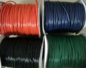 Waxed Cotton Cord 2mm - 50ft