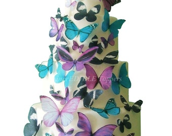 EDIBLE BUTTERFLIES for Cakes and Cupcakes, Cake Decorations, Edible Decorations for Cupcakes