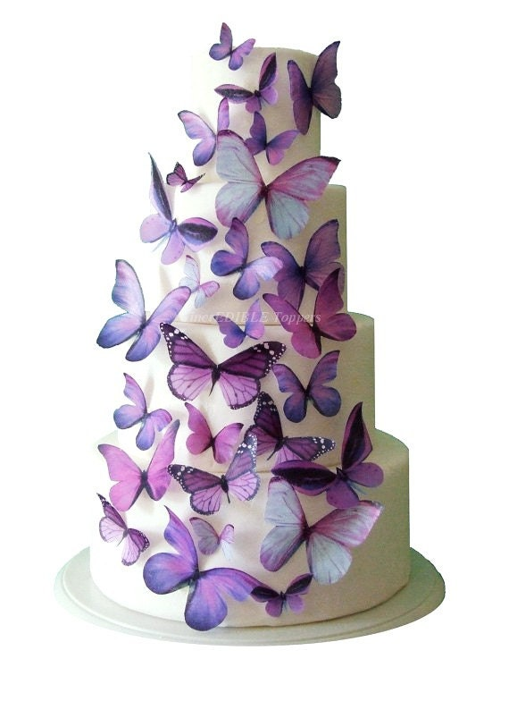 Wedding Cake Topper Edible Butterfly Winter WEDDING